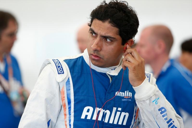 Salvador Duran at the Miami ePrix 2015