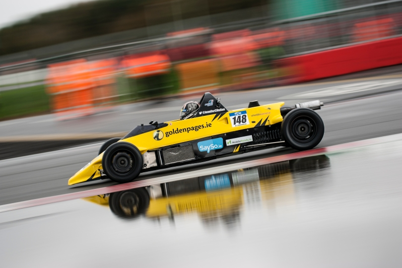Jennifer racing in Silverstone at the Walter Hayes Trophy